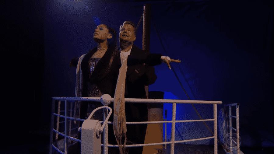 """Ariana Grande recria trilha de """"Titanic"""" - Reprodução/Youtube"""