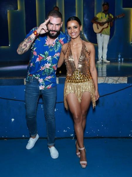 Gleici Damasceno e Wagner Santiago são apresentados na quadra da Paraíso do Tuiuti, no Rio de Janeiro - Wallace Barbosa/AgNews