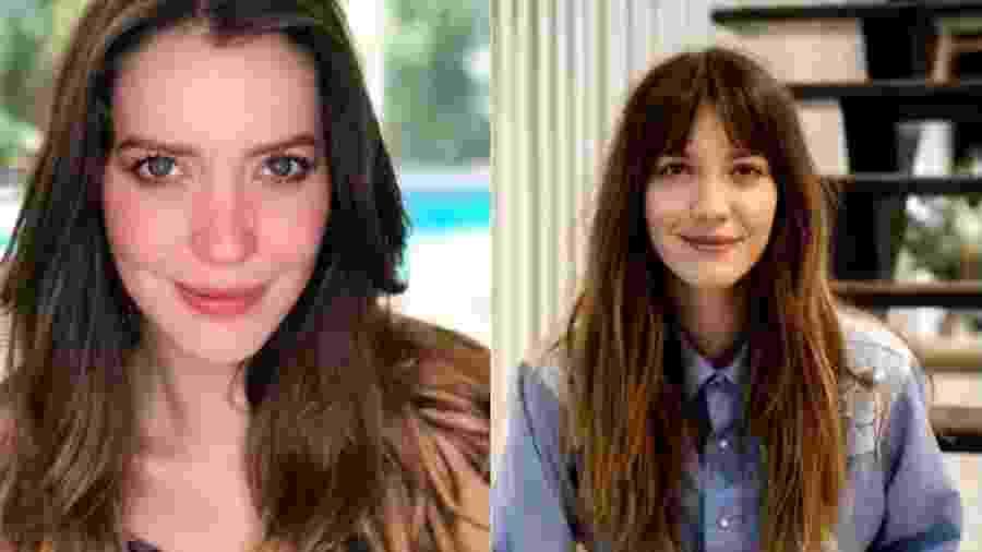 Antes e depois da mudança no visual de Nathalia Dill - Reprodução/Instagram