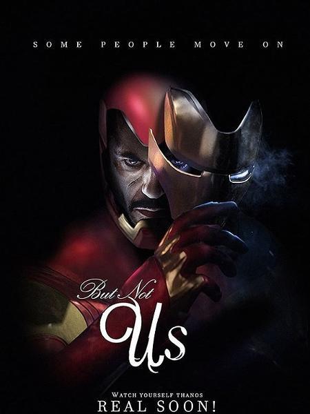 """Homem de Ferro em cartaz que faz referência a """"Nós"""" - Reprodução"""