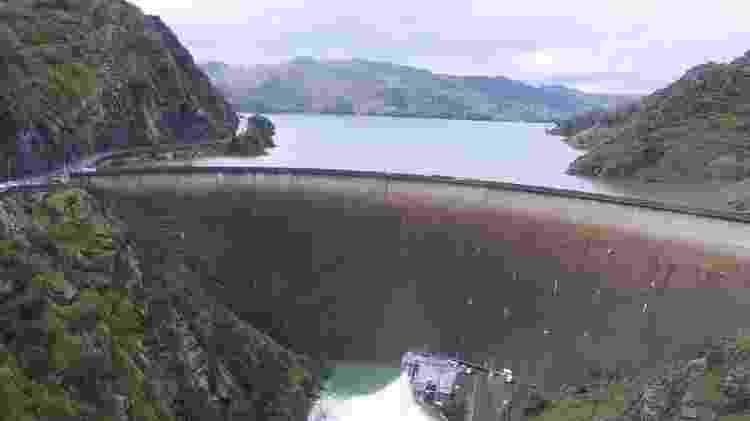 Imagem da represa californiana onde está localizado o Glory Hole - Evan Kilkus/Lake Berryessa News