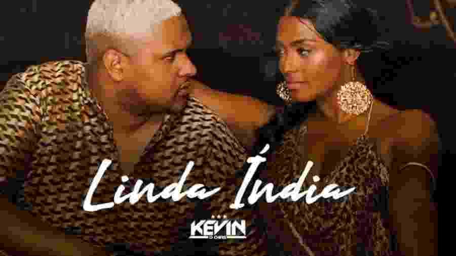 MC Kevin o Chris na capa do single Linda Índia - Reprodução/Twitter