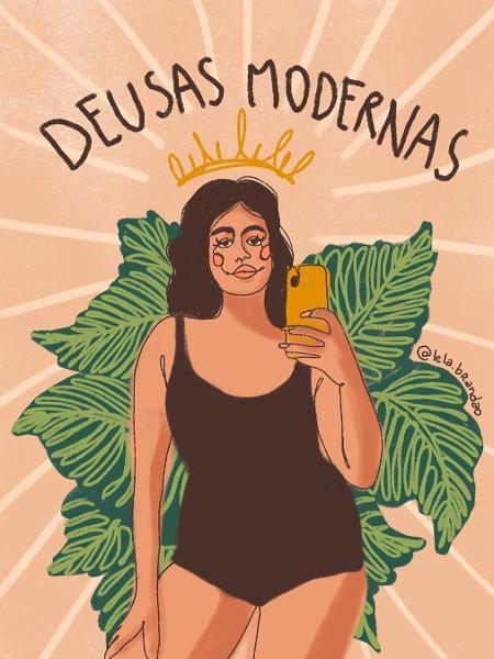 Ilustração de Lela Brandão  - Reprodução/Instagram