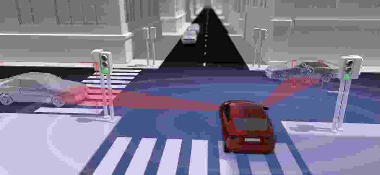 Tecnologia deve ser capaz de impedir acidentes em cruzamentos - Divulgação/Volvo
