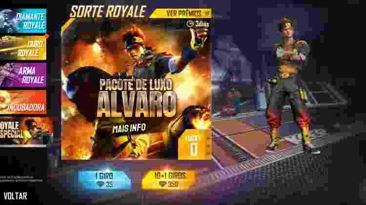 Free Fire Alvaro 3 - Reprodução - Reprodução