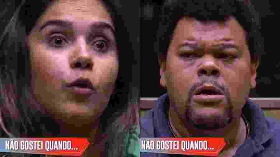 Gizelly e Babu discutem durante jogo da discórdia  - Reprodução/Globoplay