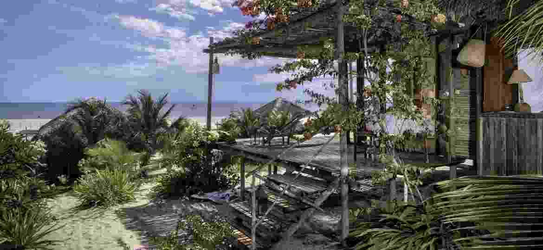 Rancho Do Peixe, na isolada Praia do Preá (CE), é uma das opções para aproveitar a alta temporada com distanciamento - Divulgação Rancho do Peixe