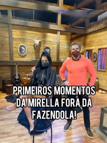 A Fazenda 2020: Marcos Mion mostrou primeiros momentos de Mirella fora do reality - Reprodução/Instagram