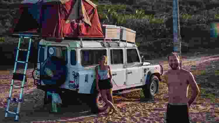 Lucas e Maíra no litoral da Paraíba - Arquivo pessoal - Arquivo pessoal