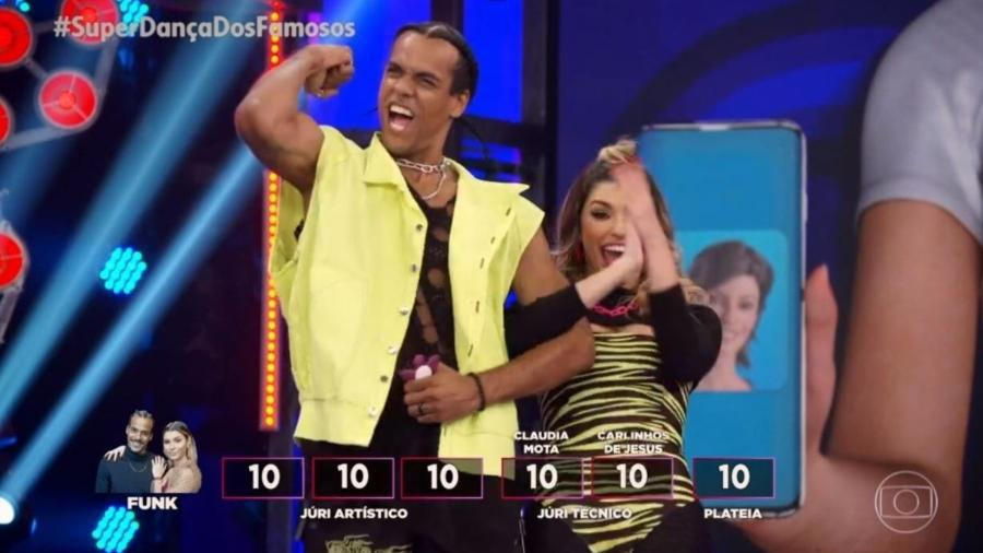 Marcello Melo conseguiu a nota perfeita no funk - Reprodução/Globo
