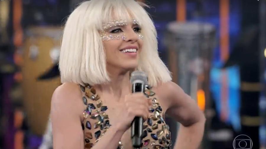 """Mariana Rios vira Lady Gaga no """"Show dos Famosos"""" - Reprodução/Globo"""