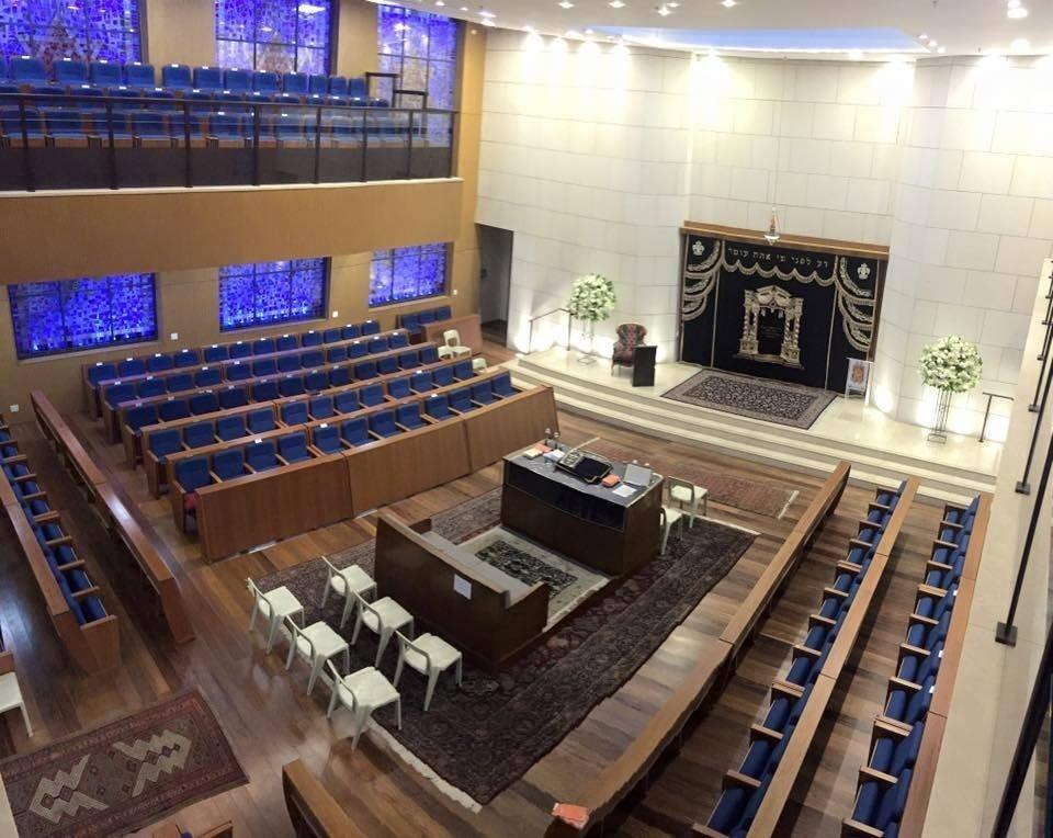 Sede da sinagoga Ohel Yaacov, conhecido como