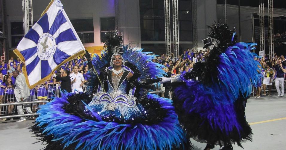 6.fev.2016 - O mestre-sala e porta-bandeira da Nenê de Vila Matilde