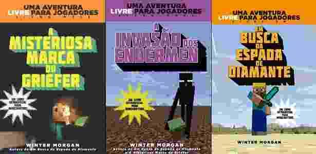 """Capas dos livros da série de Winter Morgan no universo de """"Minecraft"""" - Divulgação"""