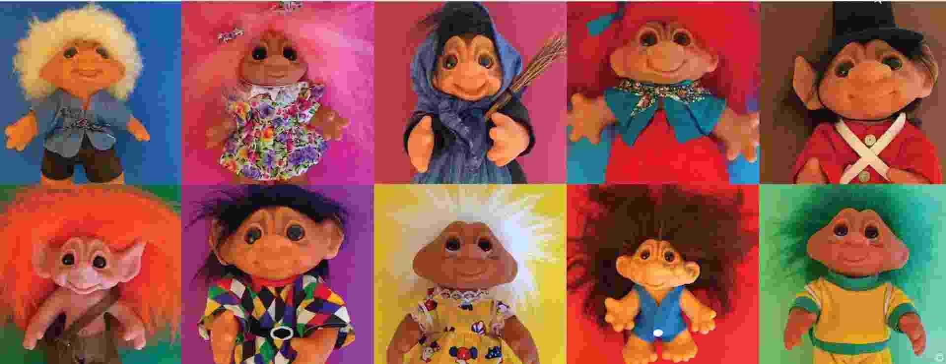 Trolls - brinquedo famoso de origem dinamarquesa - Reprodução/Facebook