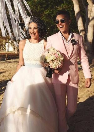 Sergio Mayer Mori no casamento da mãe, Barbara Mori, com Kenneth Ray Sigman - Reprodução/Instagram/smayermori