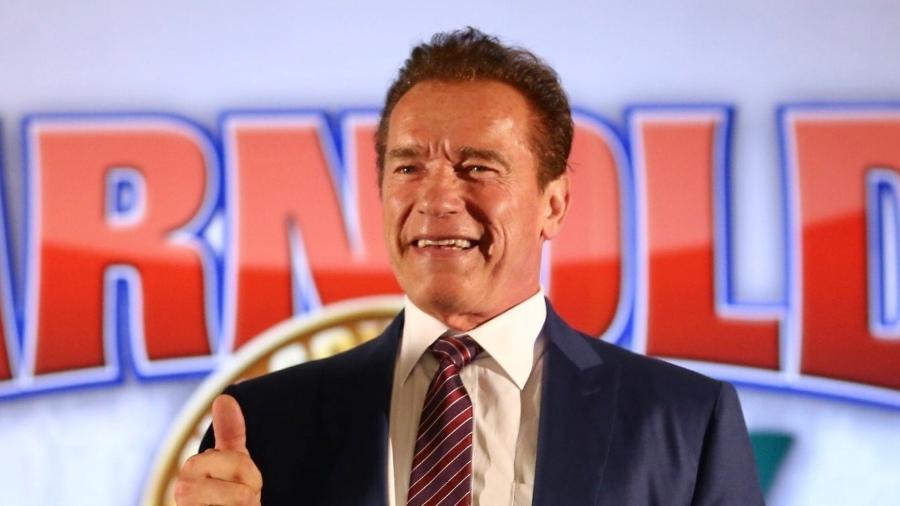 Arnold Schwarzenegger em entrevista coletiva no Arnold Classic South America - Manuela Scarpa/Brazil News