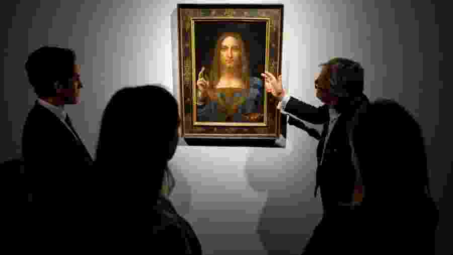 "Obra ""Salvador do Mundo"", de Leonardo da Vinci - Tolga Akmen/AFP Photo"