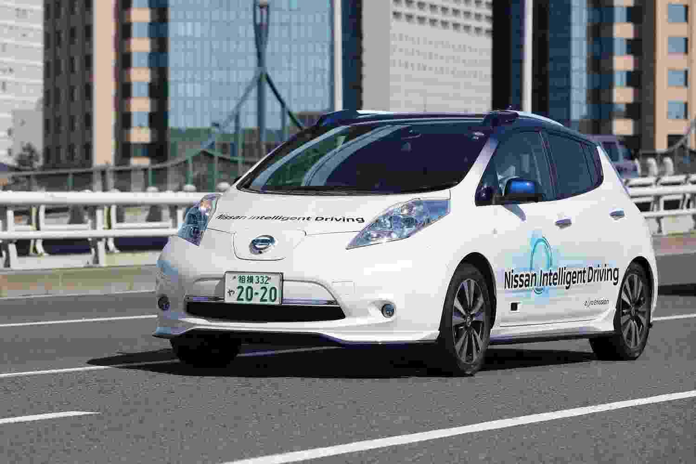Nissan Leaf autônomo em testes no Japão - Divulgação