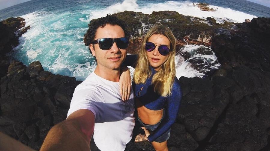 Marco Luque e Flávia Vitorino em Kauai, no Havaí - Reprodução/Instagram