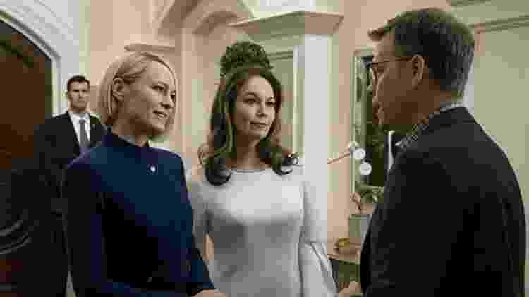 """Greg Kinnear, Diane Lane e Robin Wright em cena da última temporada de """"House of Cards"""" - Divulgação - Divulgação"""