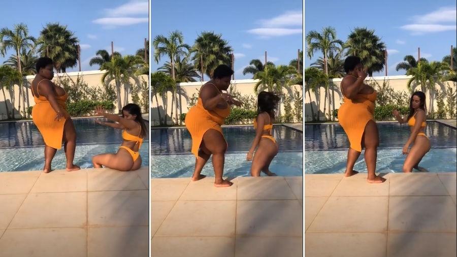 Jojo Todynho e Anitta se divertem na piscina - Reprodução/Instagram
