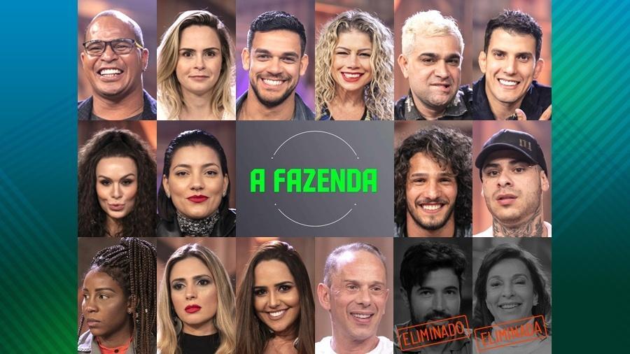 """Os participantes do reality show rural """"A Fazenda 10"""" - Montagem"""