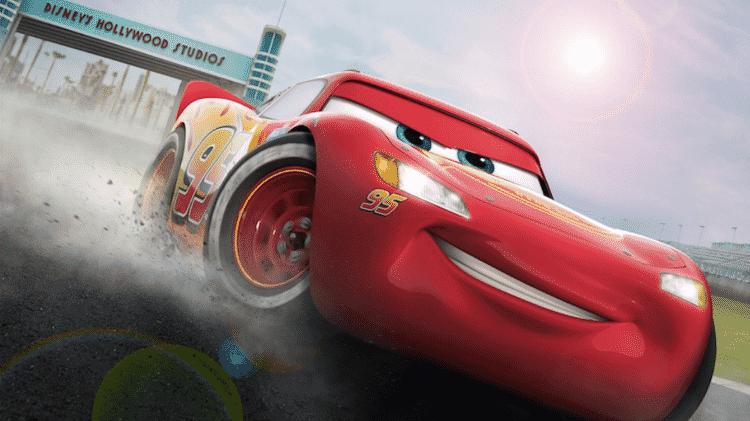 Projeção da atração Lightning McQueen's Racing Academy - Divulgação/Disney - Divulgação/Disney
