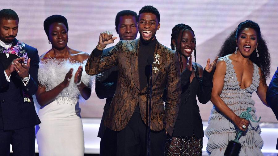 """""""Pantera Negra"""" vence o SAG Awards de melhor elenco - Frederic J. BROWN / AFP"""