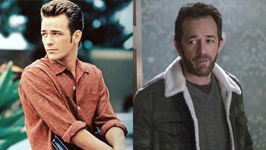 """O ator Luke Perry em """"Barrados no Baile"""" e em """"Riverdale"""" - Divulgação"""