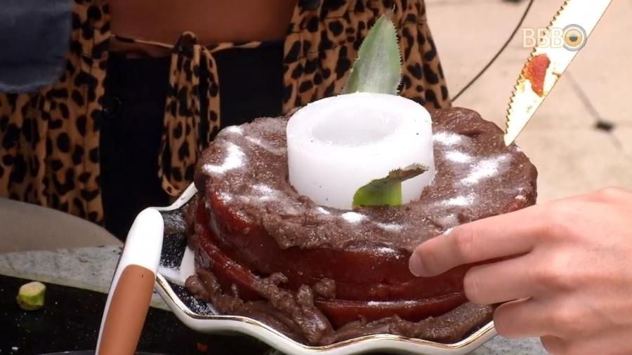 Sisters improvisam bolo para Gabriela - Reprodução/Globoplay