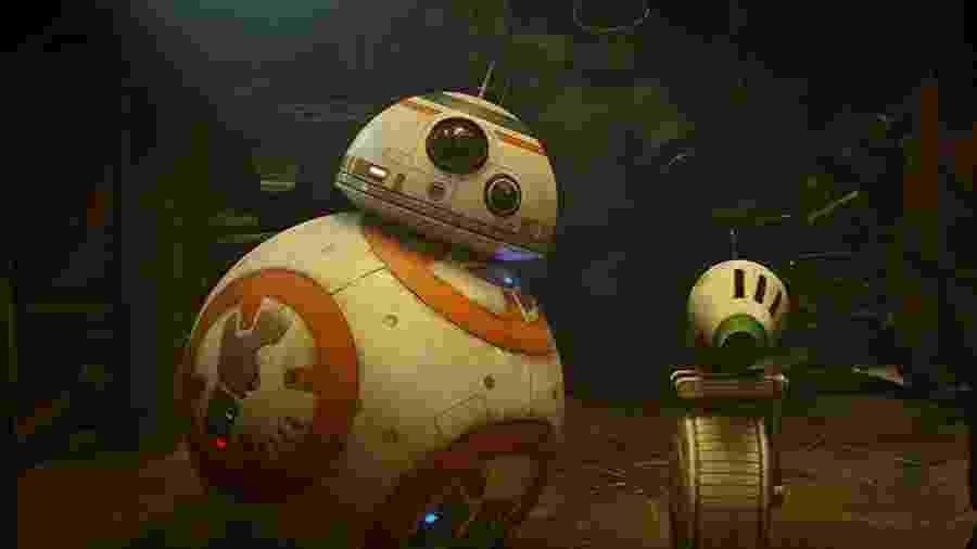 """BB8 faz um novo amigo em """"Star Wars IX: The Rise of Skywalker"""", o androide D.O. - Divulgação"""