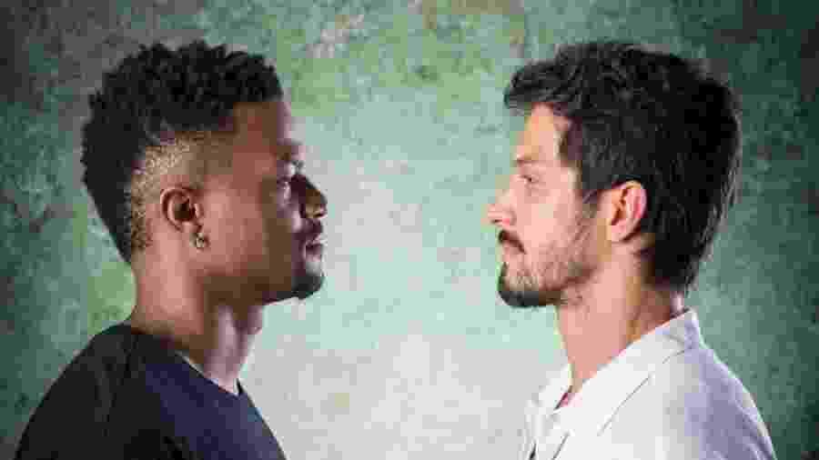 David Júnior e Rômulo Estrela são Ramon e Marcos em Bom Sucesso. Eles disputarão o amor de Paloma (Grazi Massafera) - Globo/João Cotta