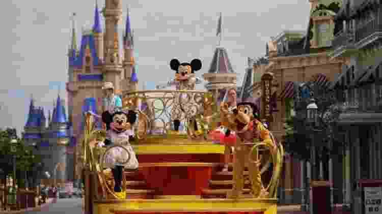 Mickey e amigos desfilam na reabertura da Disney World, na Flórida - Olga Thompson/Walt Disney World Resort - Olga Thompson/Walt Disney World Resort