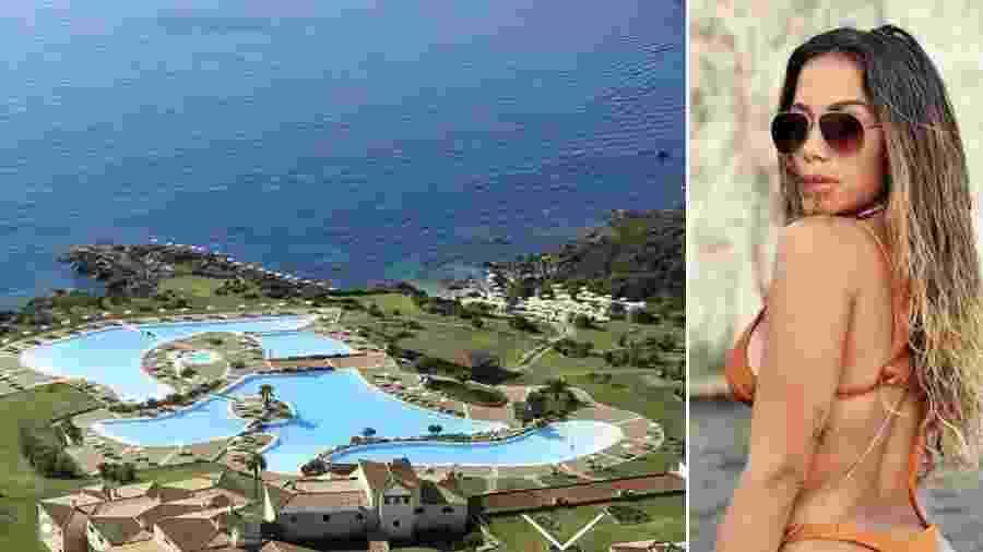 Anitta está na região de Sardenha, na Itália, com amigos - Reprodução/Instagram