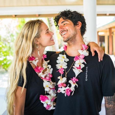 Yasmin Brunet e Gabriel Medina nas Maldivas - Reprodução/Instagram