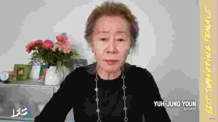 Yuh-Jung Youn venceu o Independent Spirit Award por 'Minari' - Getty Images for Film Independent - Getty Images for Film Independent