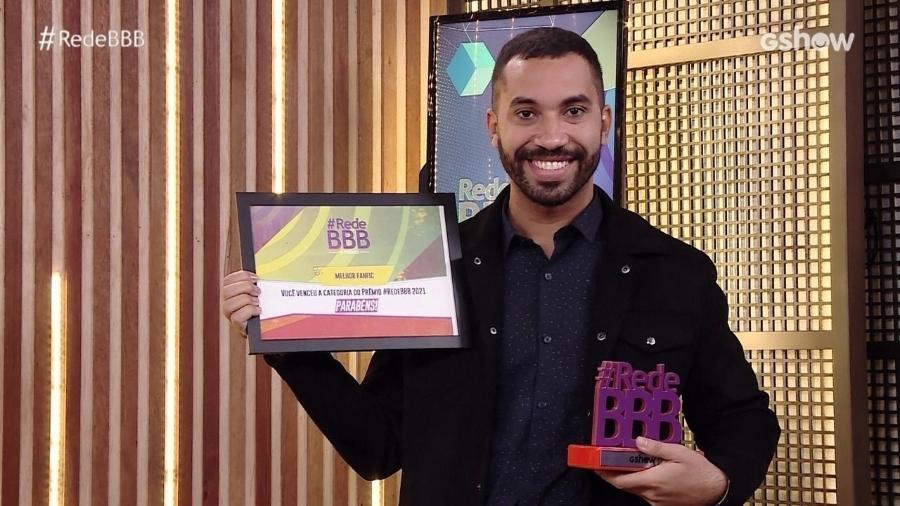 BBB 21: Gil do Vigor recebe prêmio no Rede BBB - Reprodução/Globoplay