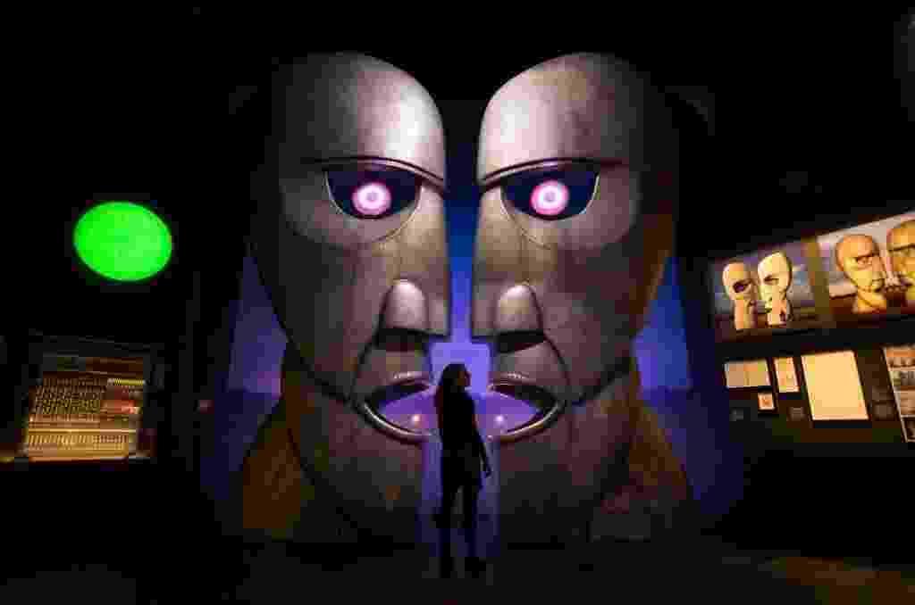 """The Pink Floyd Exhibition: Their Mortal Remains"" celebra obra da banda no Victoria and Albert Museum, em Londres - Daniel Leal-Olivas/AFP Photo"