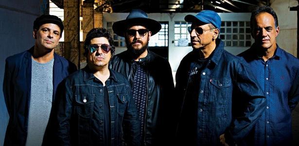 """Barão pós-Frejat: Rodrigo Santos (primeiro à esquerda) deixou a banda por """"incompatibilidade de agenda"""""""