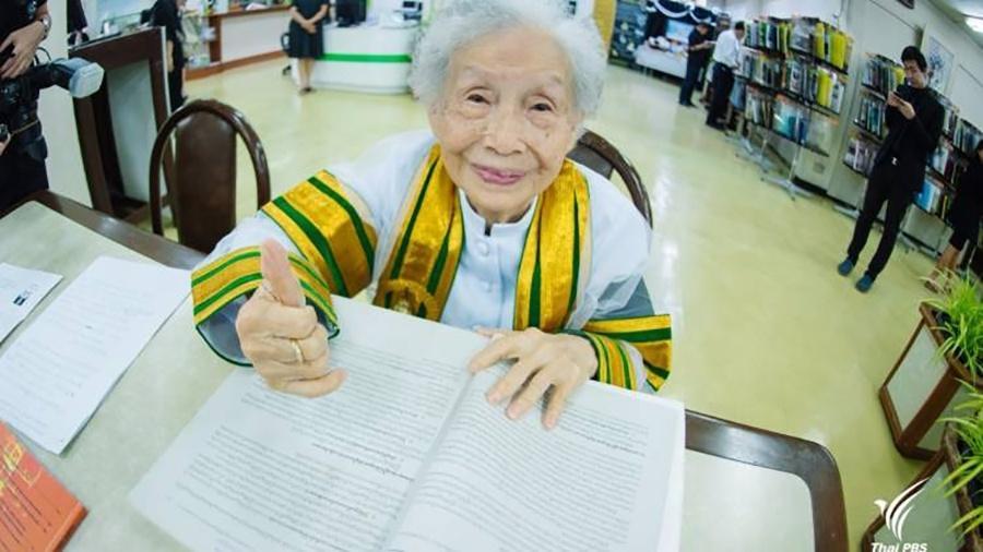 Kim Jagal Kunakul, a ?Vovó Kim? - Reprodução/Thai PBS