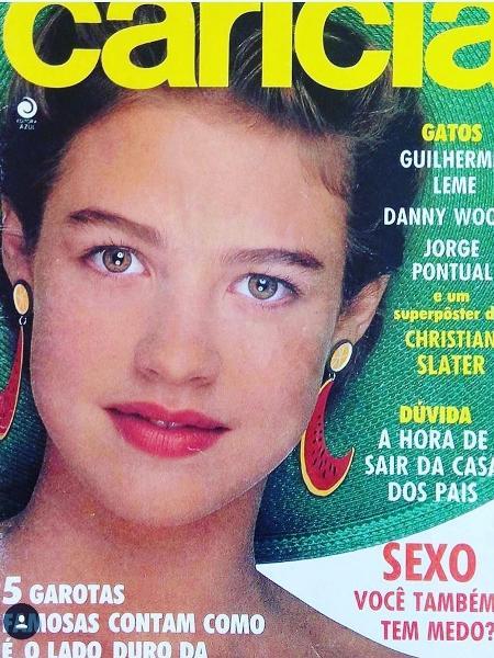 Luana Piovani em sua primeira capa de revista aos 15 anos - Reprodução/Instagram