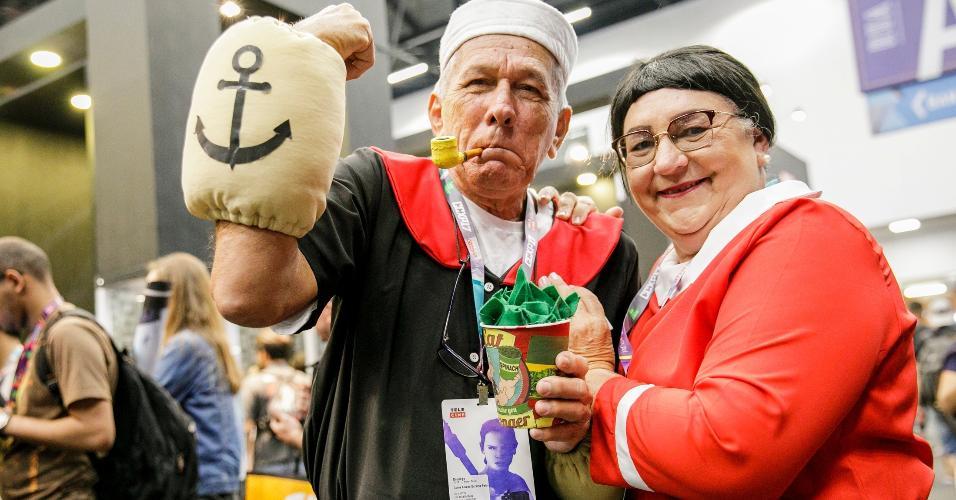 Não há idade para cosplay: aqui Popeye e Olivia Palito