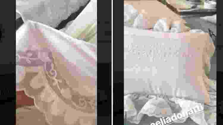 Ivete Sangalo mostra lençol e travesseiro bordados - Reprodução/Instagram - Reprodução/Instagram