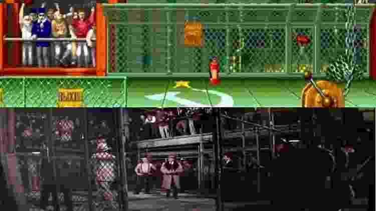 """""""Lutador de Rua"""" vs """"Street Fighter"""" - Reprodução - Reprodução"""