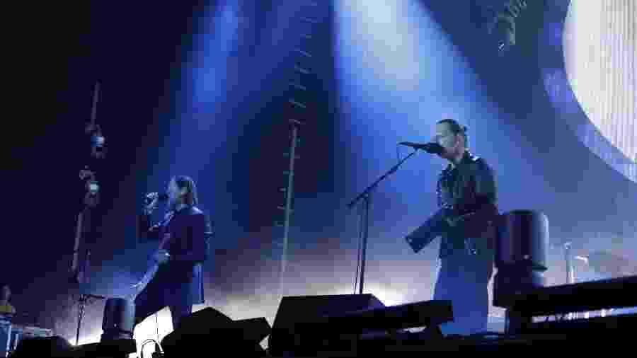 A banda britânica Radiohead se apresenta no Soundhearts Festival, no Allianz Parque, em São Paulo - Simon Plestenjak/UOL