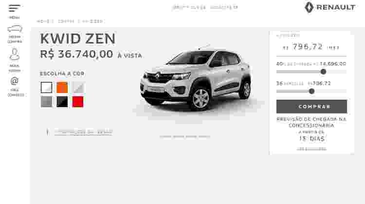 Loja Renault Kwid - Reprodução/Internet - Reprodução/Internet