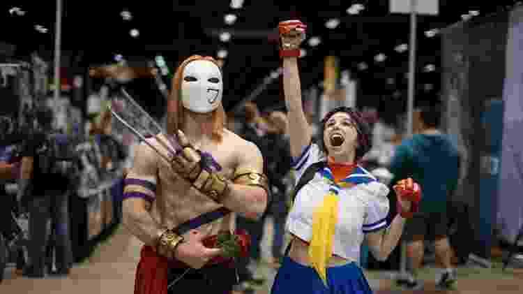 Os personagens icônicos tornam Street Fighter uma das séries favoritas entre os cosplayers. - Reprodução/Share My Cosplay/Thousand Faces Cosplay