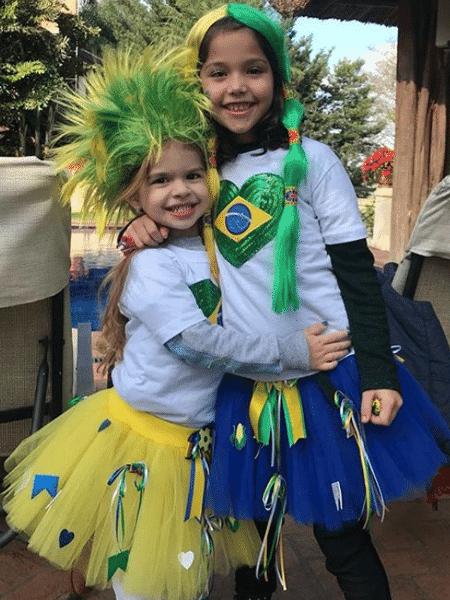 Valentina Muniz, filha de Ceará e Mirella Santos, já está em clima de Copa - Reprodução/Instagram