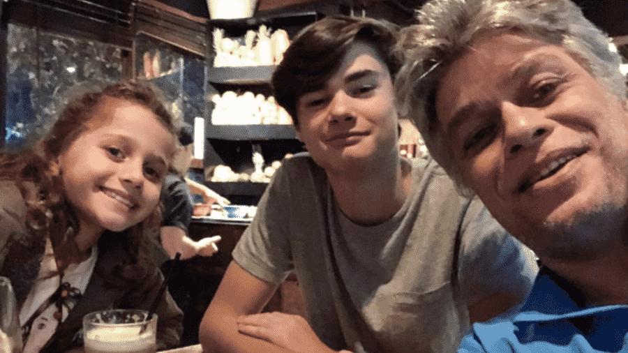 Fabio Assunção com os filhos, Ella e João - Reprodução/Instagram
